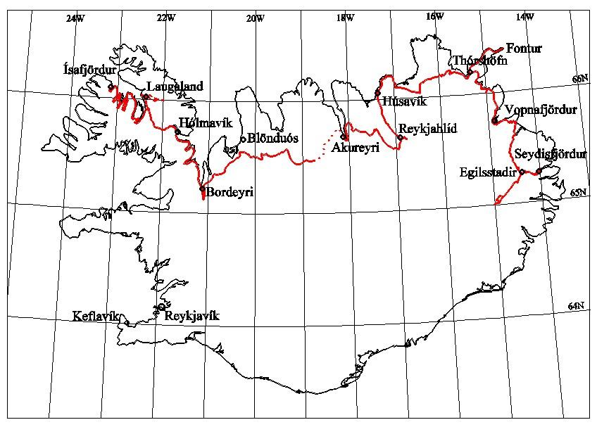 North Iceland Cycle Tour - Iceland latitude