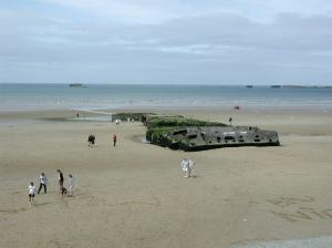 The beach at Arromanches