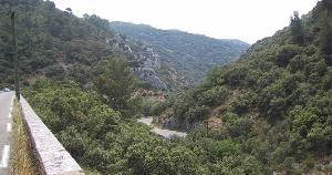 most fantastic ride down the narrow valley towards Lourmarin