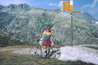 Patrick Schleppi at the Grimselpass
