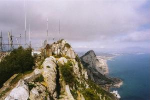 The Rock at Gibraltar, with antennas galore
