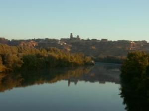 Daybreak at Toro from Duero valley