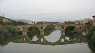 Centuries old bridge at Puente la Reina