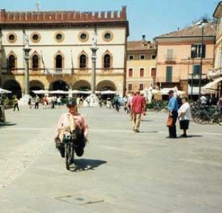 Town square in Ravenna Italy