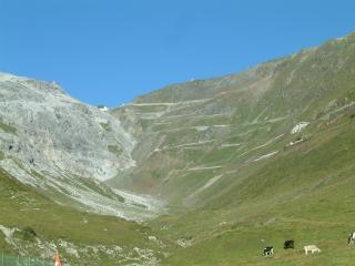 View to the Stelvio Summit from Bormio side