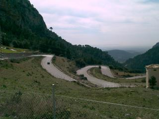 view down the Soller serpentines, Mallorca