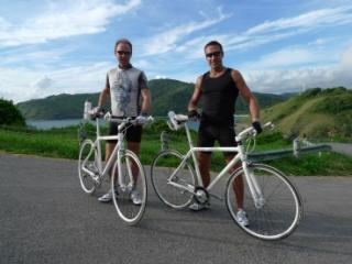 Osmosno on their first single speed on steep hills experience in Thailand