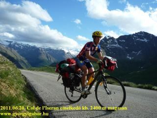 Gábor Györgyi bicycling to Col de l'Iseran from South