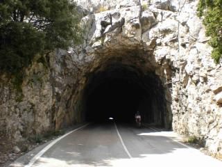 Tunnel at Puig Major summit