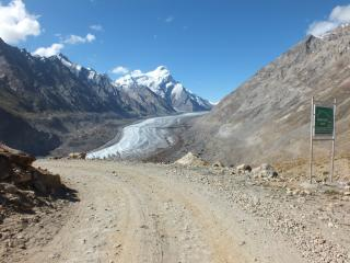 Road to Zanskar. Pass Pensi La, 4400 m. On pass good place for camping