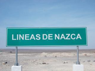 Nazca Lines welcome sign