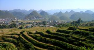Karst scenery in Northeast Vietnam