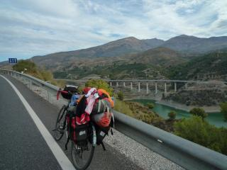 Cycling along the Sierra Nevada to Granada and the same day up to Pico Veleta