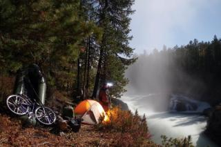 bikerafting camp at Hamsarinski waterfall
